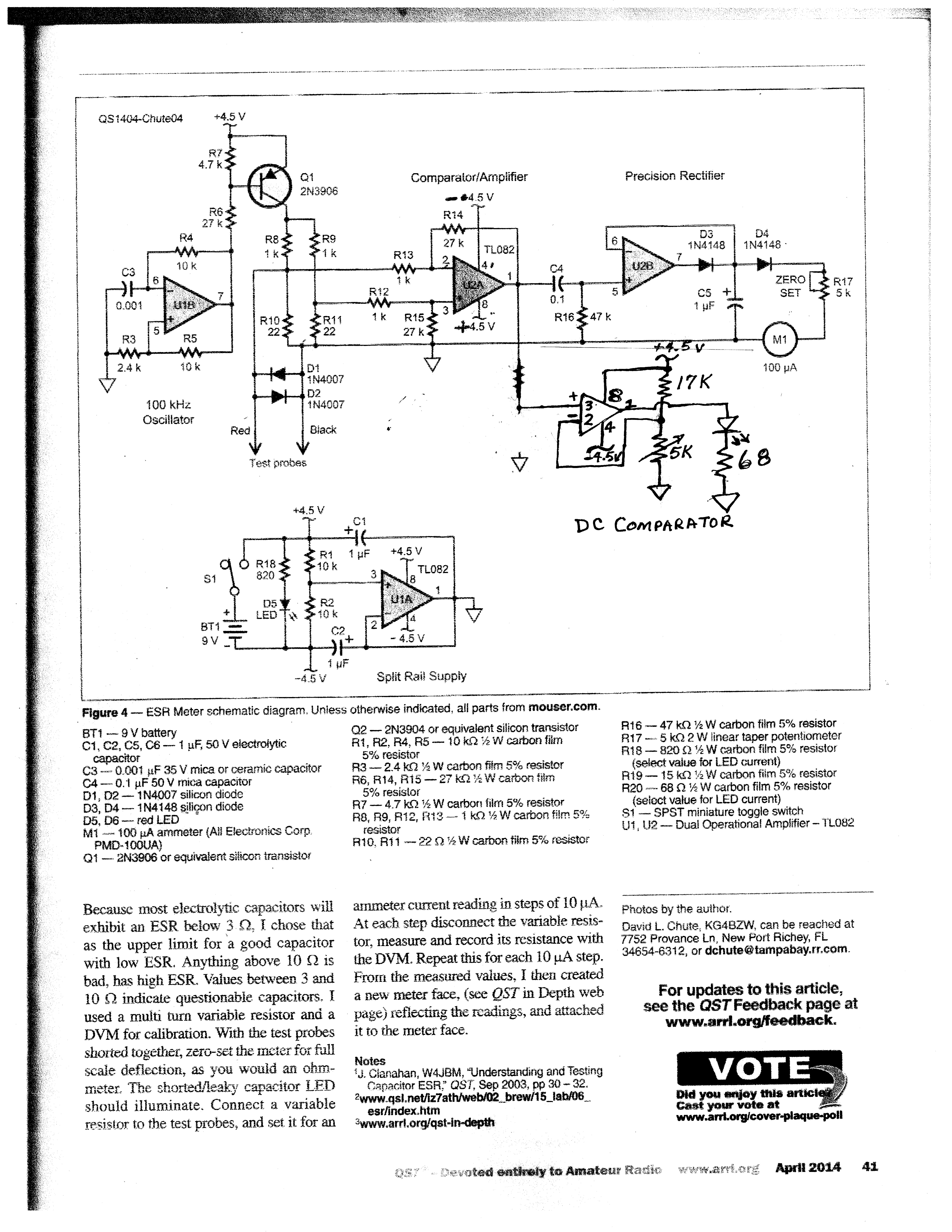 Test Equipment Logic Probe Circuit Diagram Esr Meter Click Here For Modified Schematic